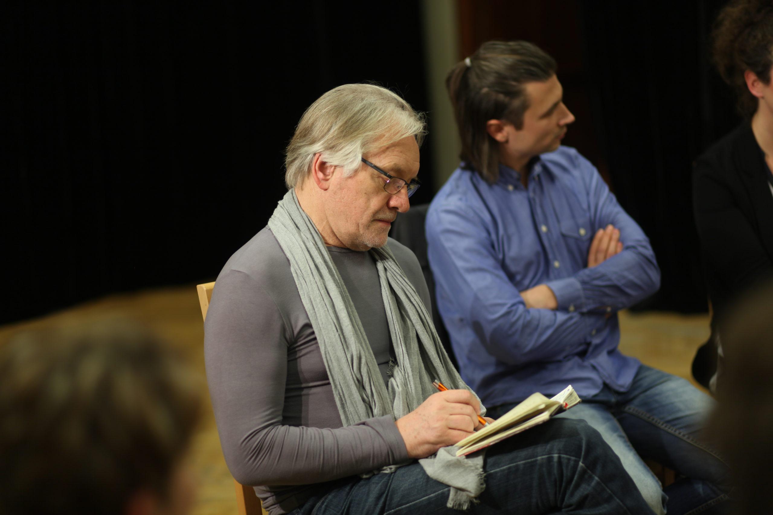 Andrzej Seweryn na próbie Teatru Stopa