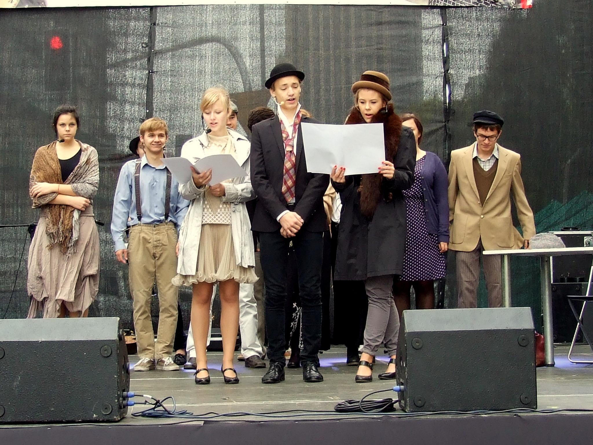 Występ chóru szkolnego na Kercelaku 2012
